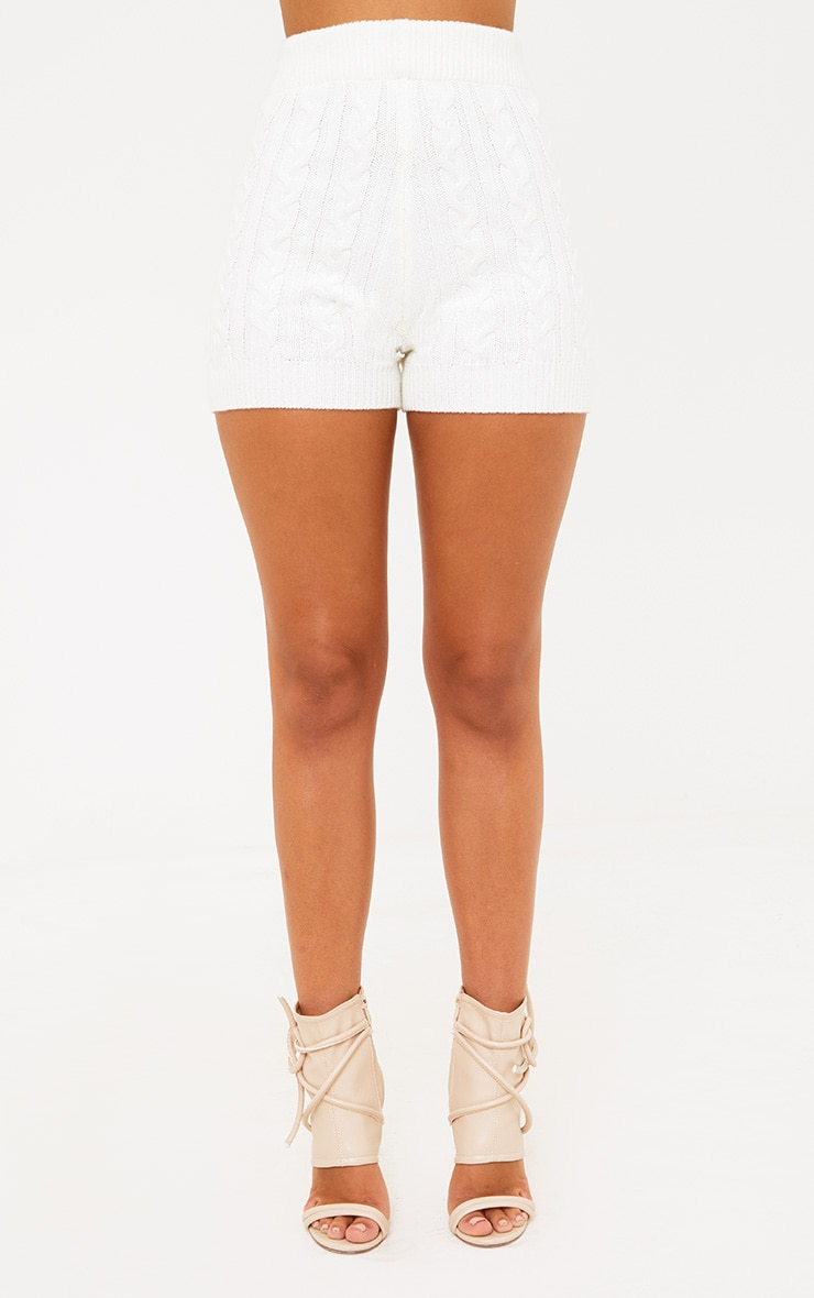 Cream Knit Short 4