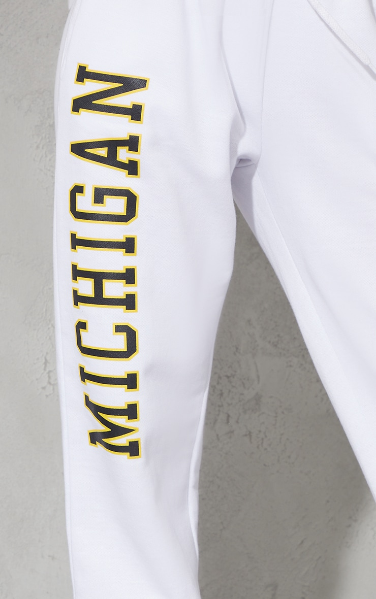 White Michigan Sweat Pant Joggers 4