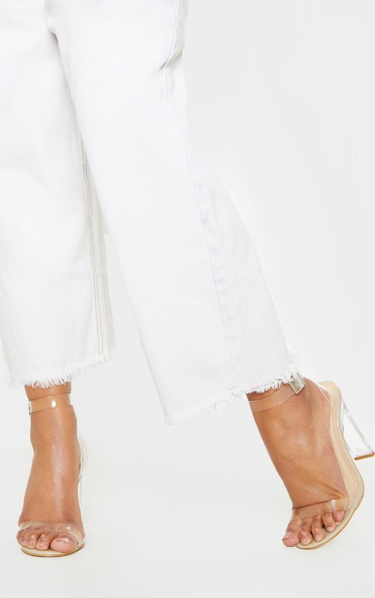 Nude Flat Heel Clear Strap Sandal 2
