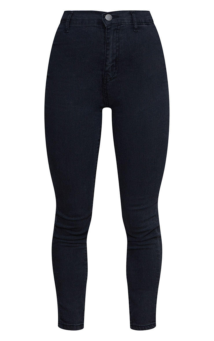 Petite Black Washed Disco Fit Skinny Jeans 5
