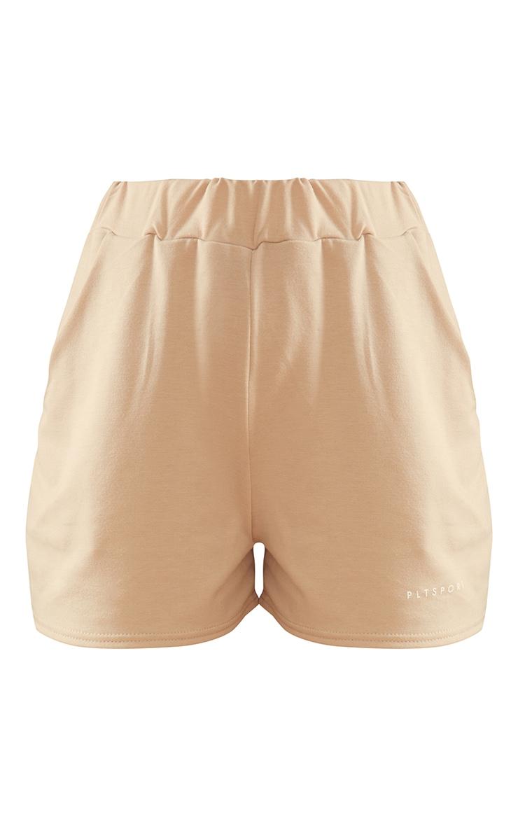 PRETTYLITTLETHING Stone Sport Sweat Shorts 5