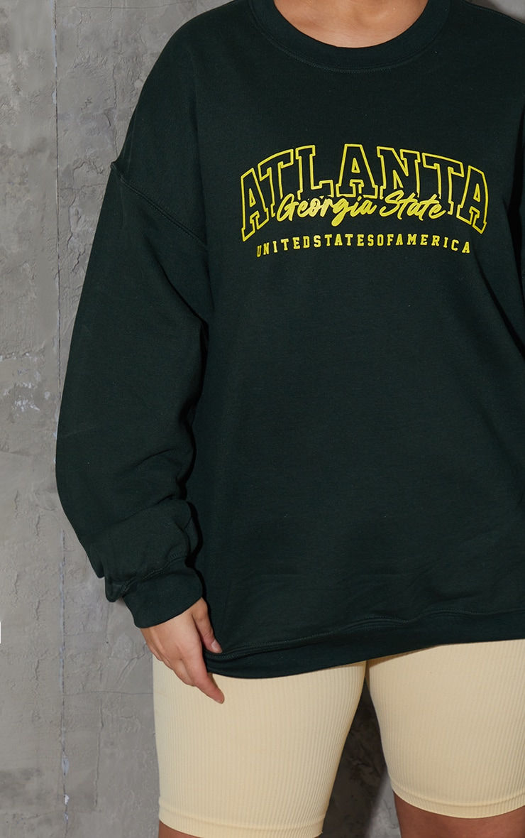 Plus Green  Atlanta Slogan SweatShirt 4