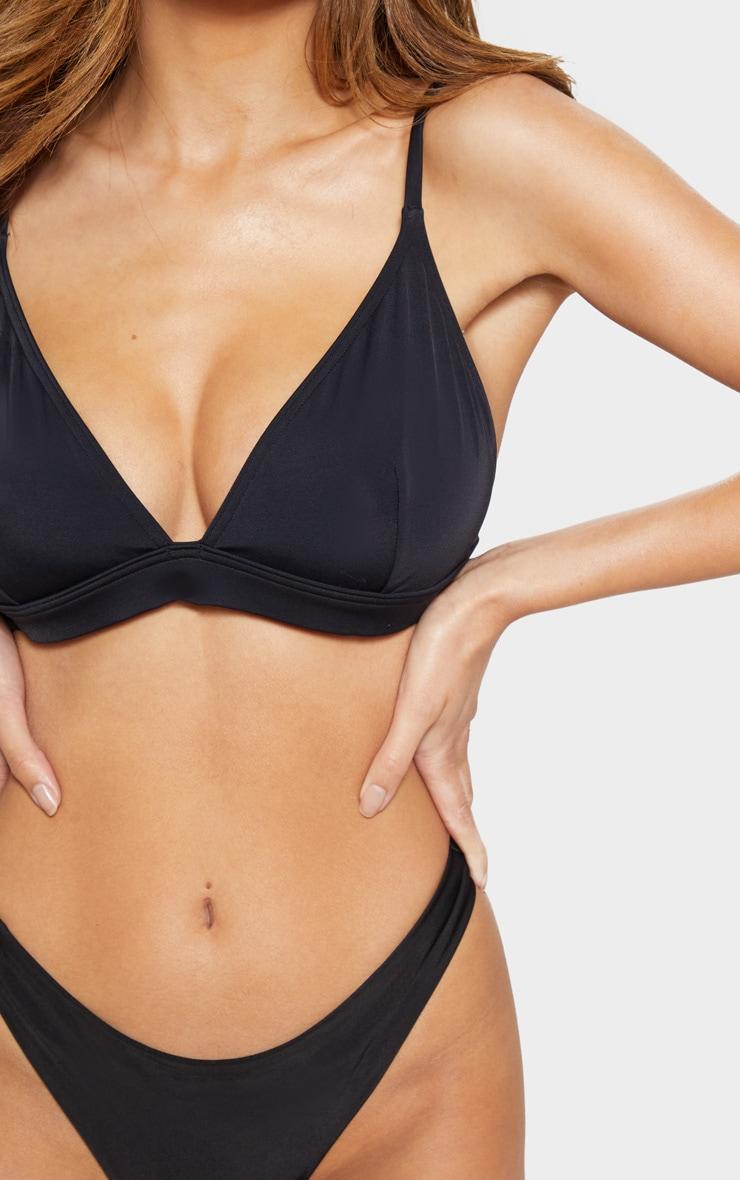 Black Mix And Match Fuller Bust Triangle Bikini Top  4