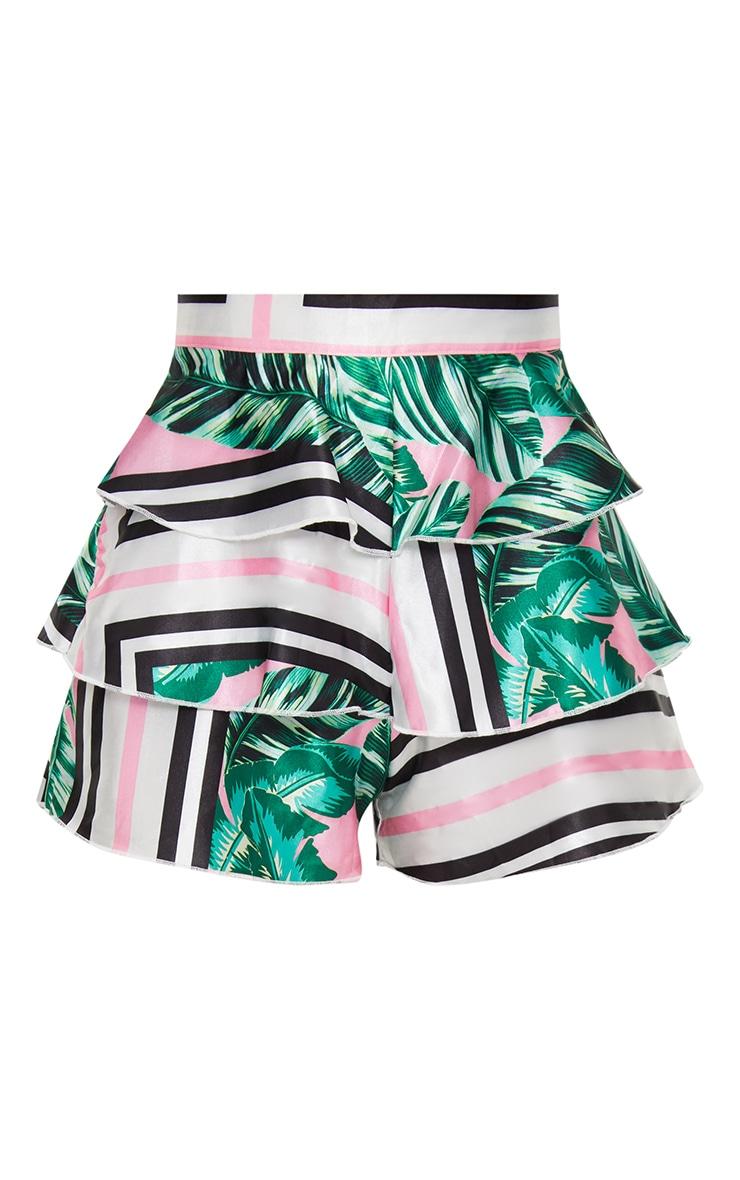 Petite Black Floral Shorts 4