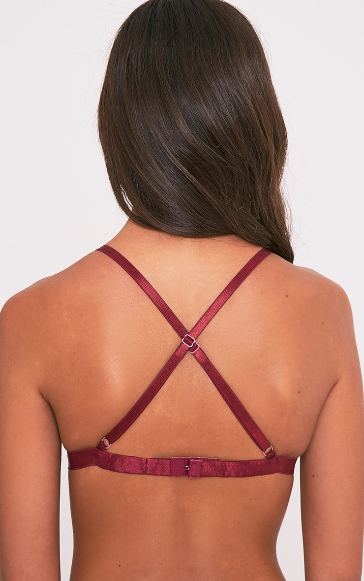 Gerrie Burgundy Lace Harness Soft Bra 2