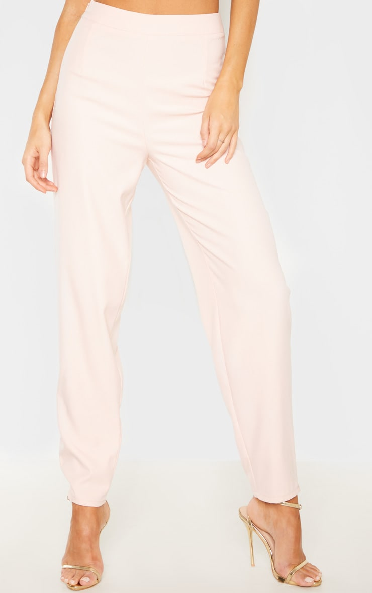 Tall Dusty Pink Wide Leg Slim Cuff Suit Pants 2