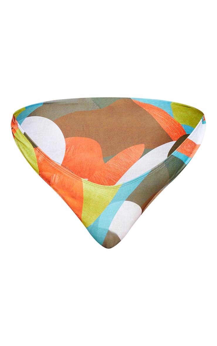 Plus Multi Abstract Printed Triangle Bikini Bottoms 5