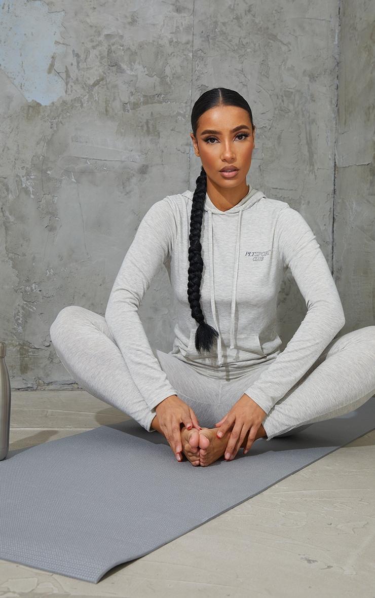 Grey Soft Yoga Hoody 1