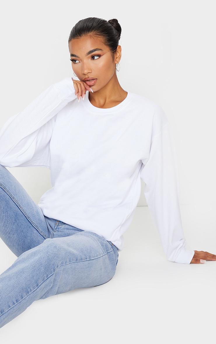 White Ultimate Oversized Sweatshirt 1