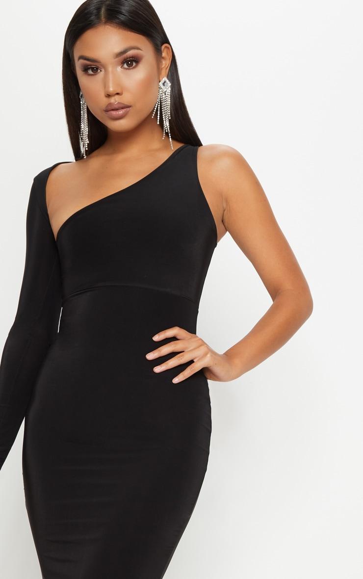 Black Wrap Sleeve Maxi Dress 5