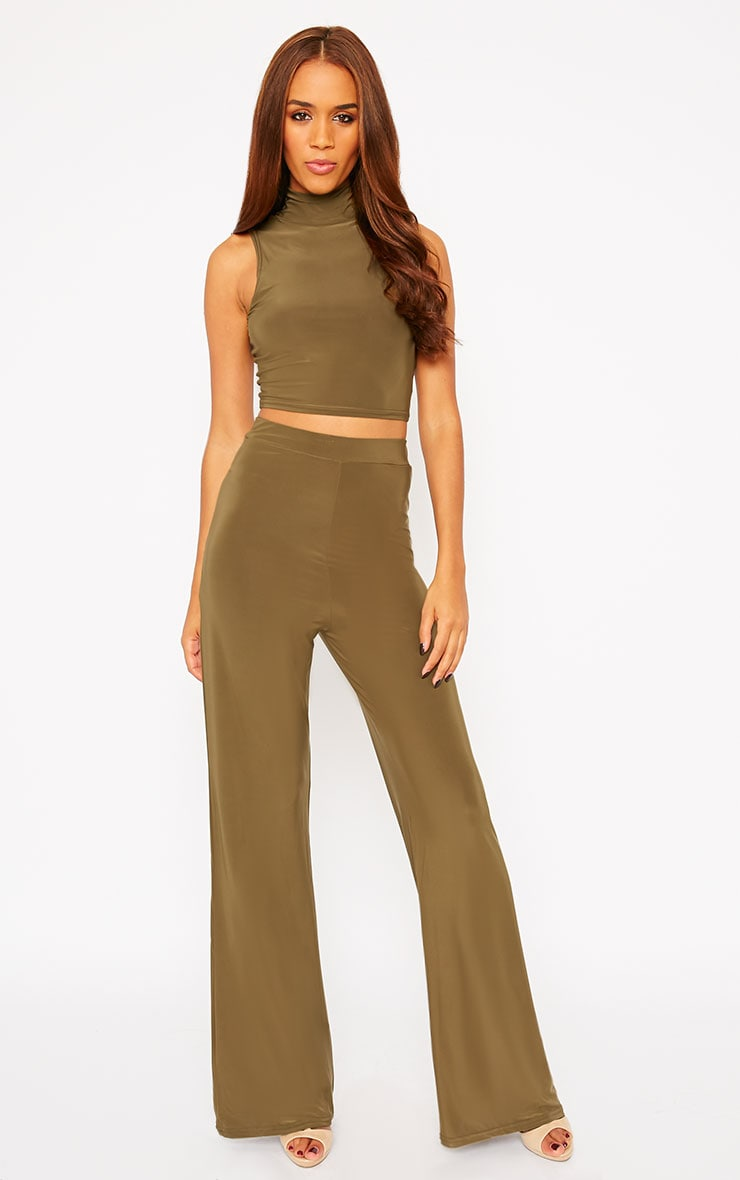 Remi Khaki Soft Touch Crop Top 3