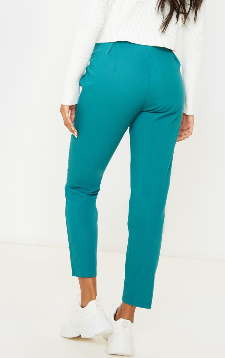 Jasper Green Belted Paperbag Tapered Pants 5