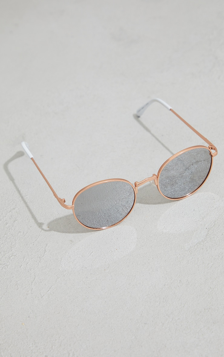 Jeepers Peepers Rose Gold Roundframe Sunglasses 3