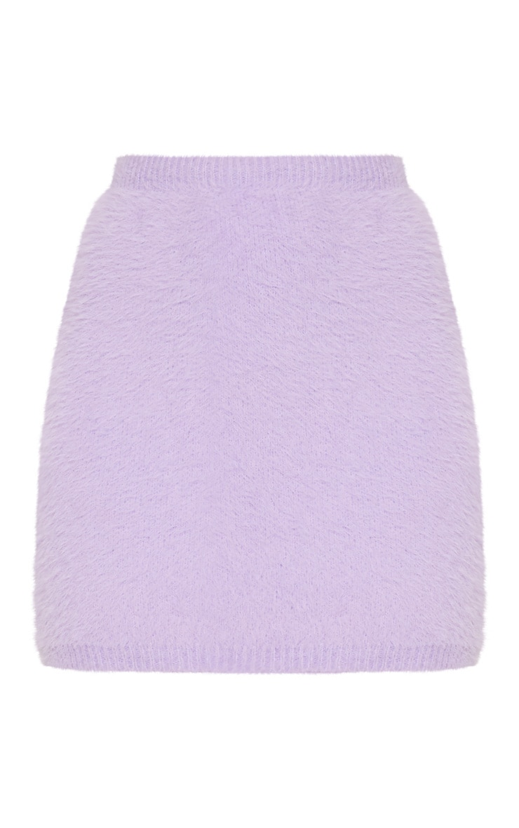 Lilac Eyelash Knit Skirt 3