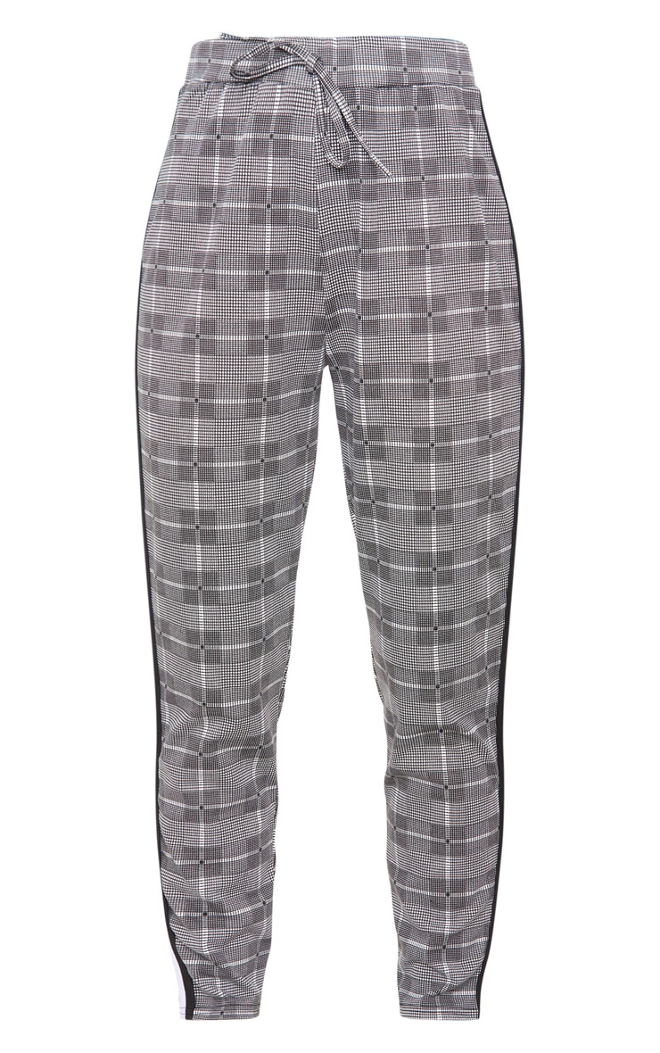 Grey Check Side Stripe Jogger 3
