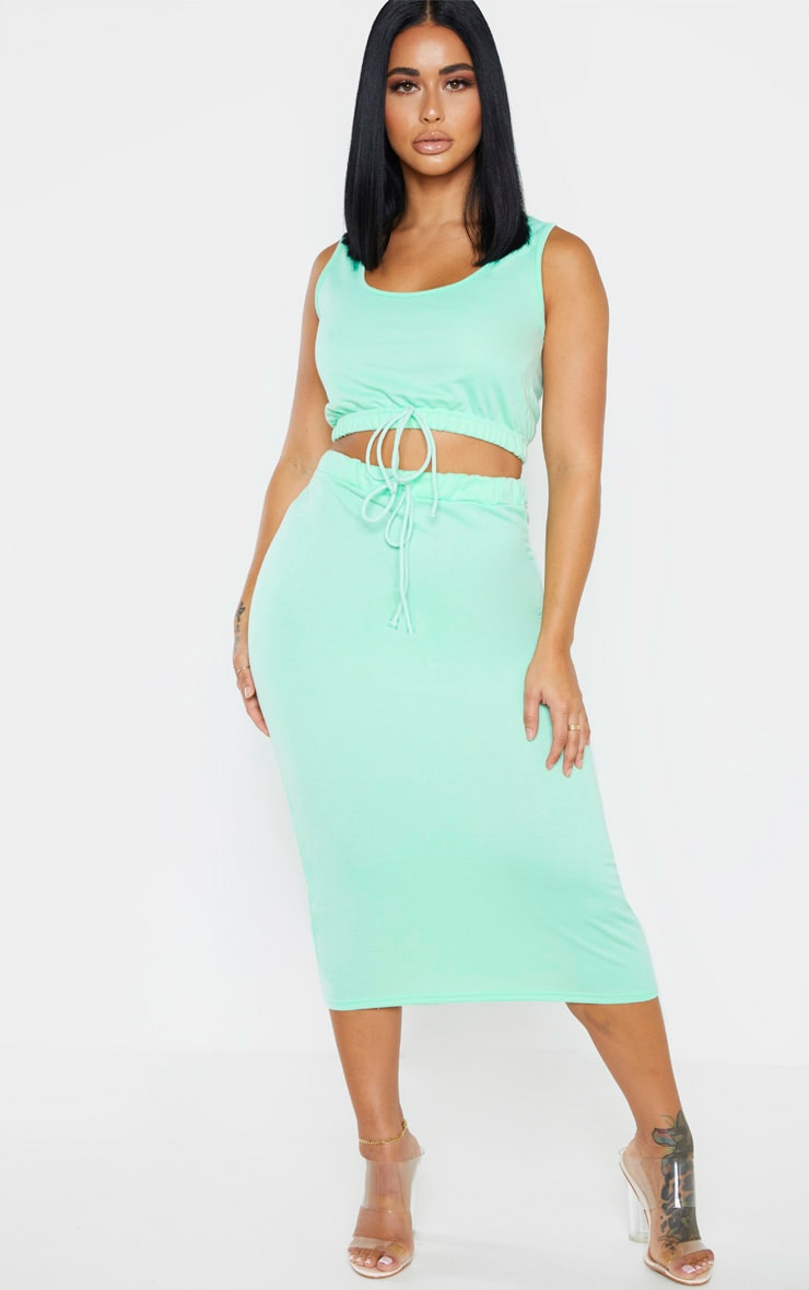Shape Mint Sweat Sleeveless Crop Top 3