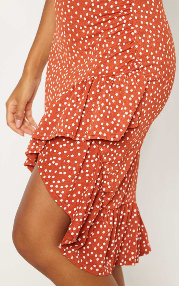 Spice Polka Dot Frill Midi Skirt 6