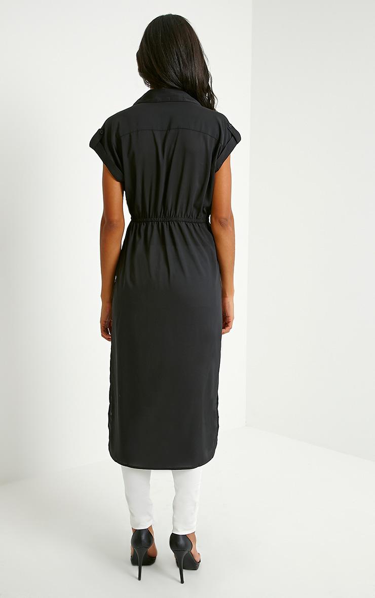 Freya Black Longline Shirt 2