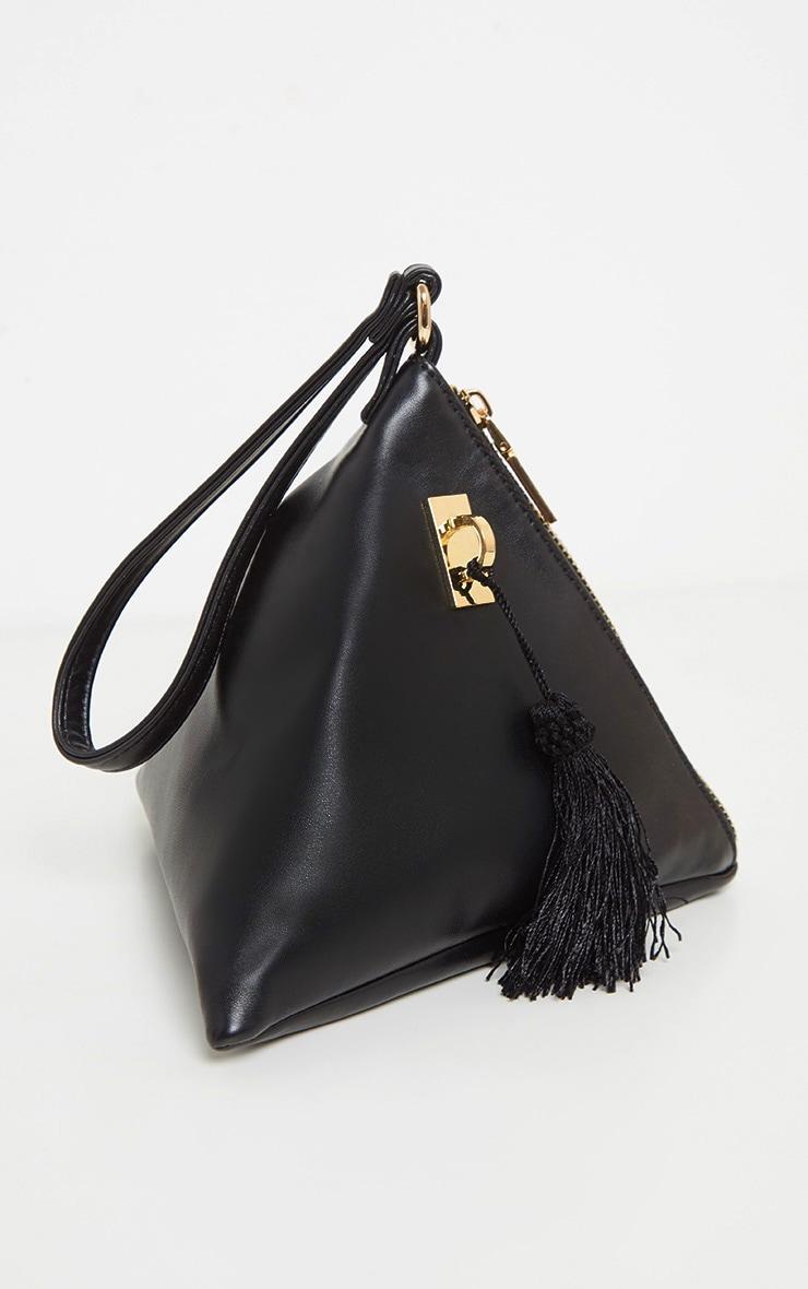 Black PU Triangle Mini Bag 2