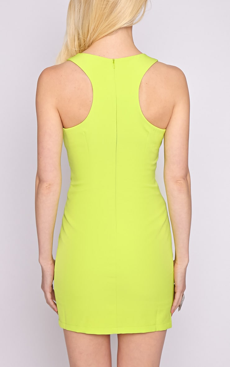 Blair Lime Cut Out Dress 2