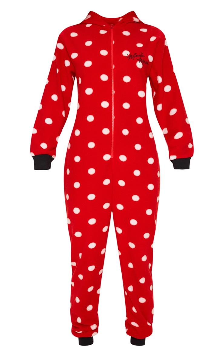 Red Disney Minnie Mouse Polka Dot Onesie 3