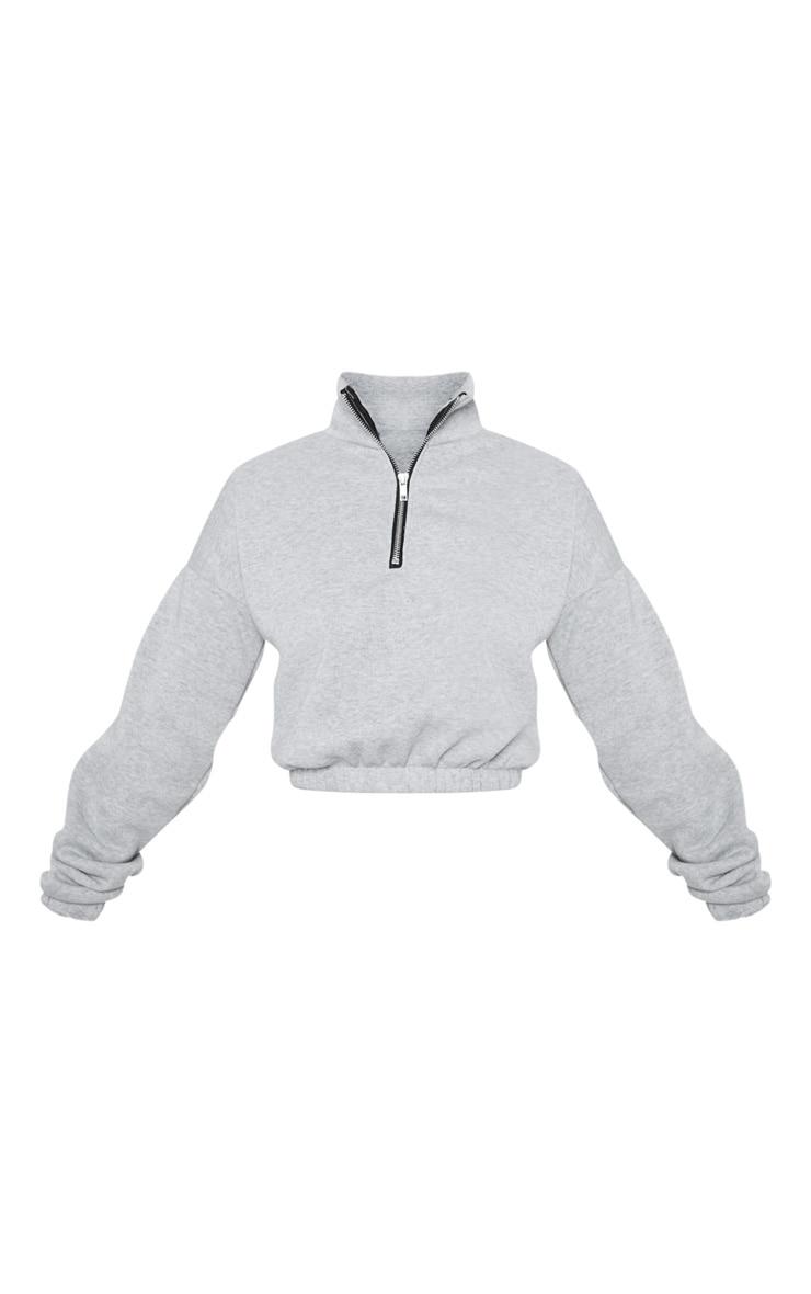 Petite Grey Half Zip Sweater 3
