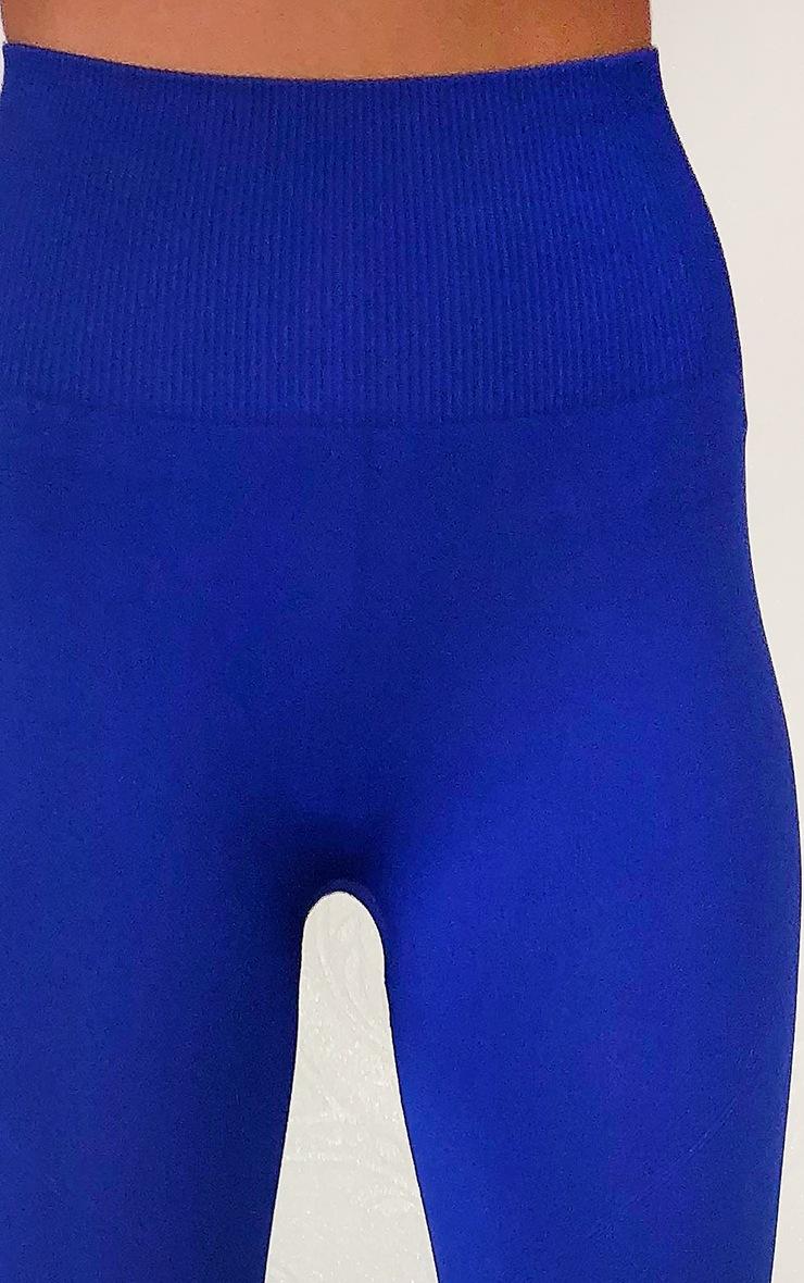 Cobalt High Waist Seamless Gym Leggings 4
