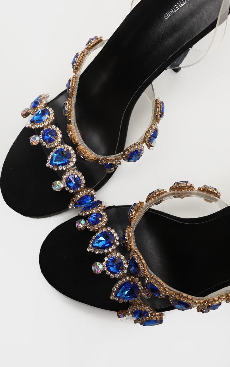 Black Jewel Embellished Mule 4