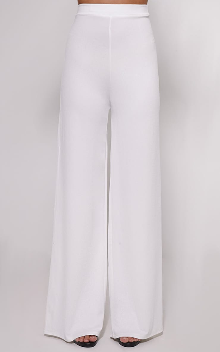 Solomon Cream Crepe Trousers 2