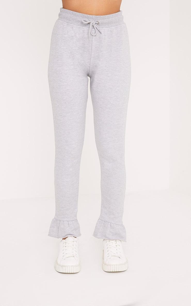 Nilda Grey Frill Hem Track Pants 2