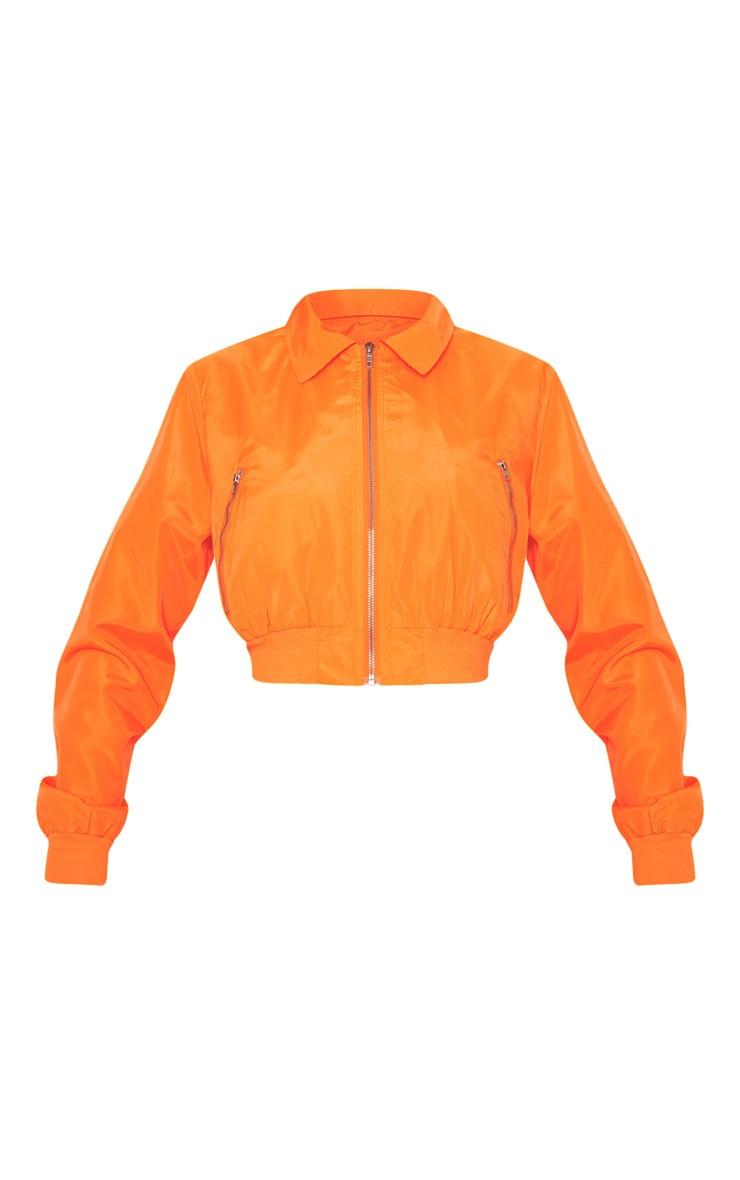 Neon Orange Zip Up Collar Bomber 3