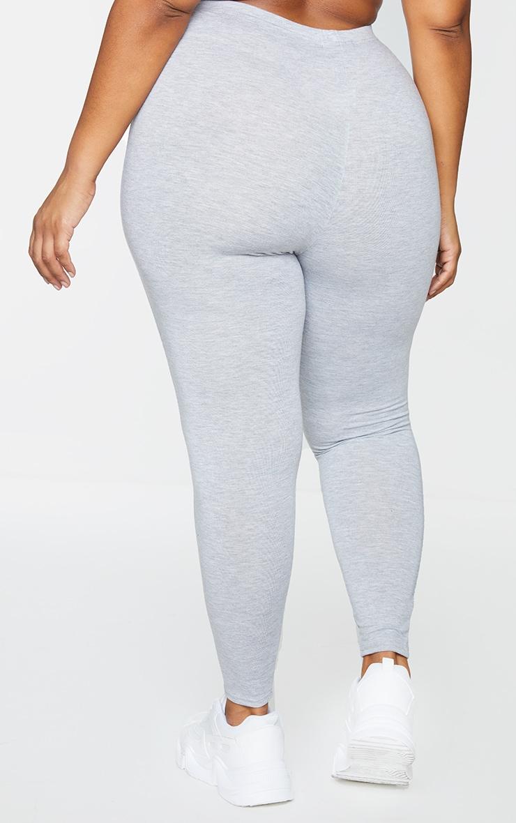 Plus Black and Grey Basic Jersey Legging 2 Pack 3