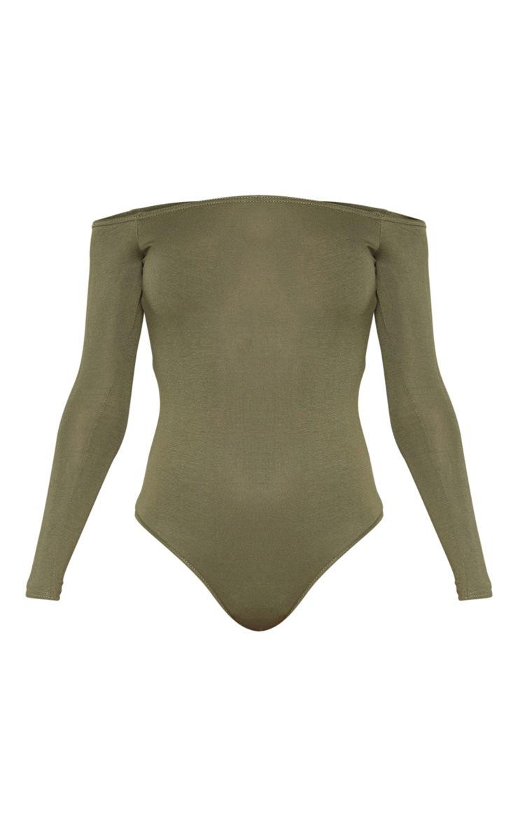 Khaki Bardot Bodysuit 3