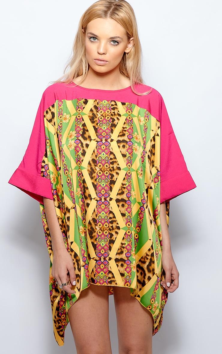 Esme Pink Leopard Print Dress 1