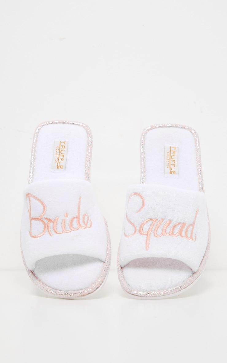 White Bride Squad Slippers 1