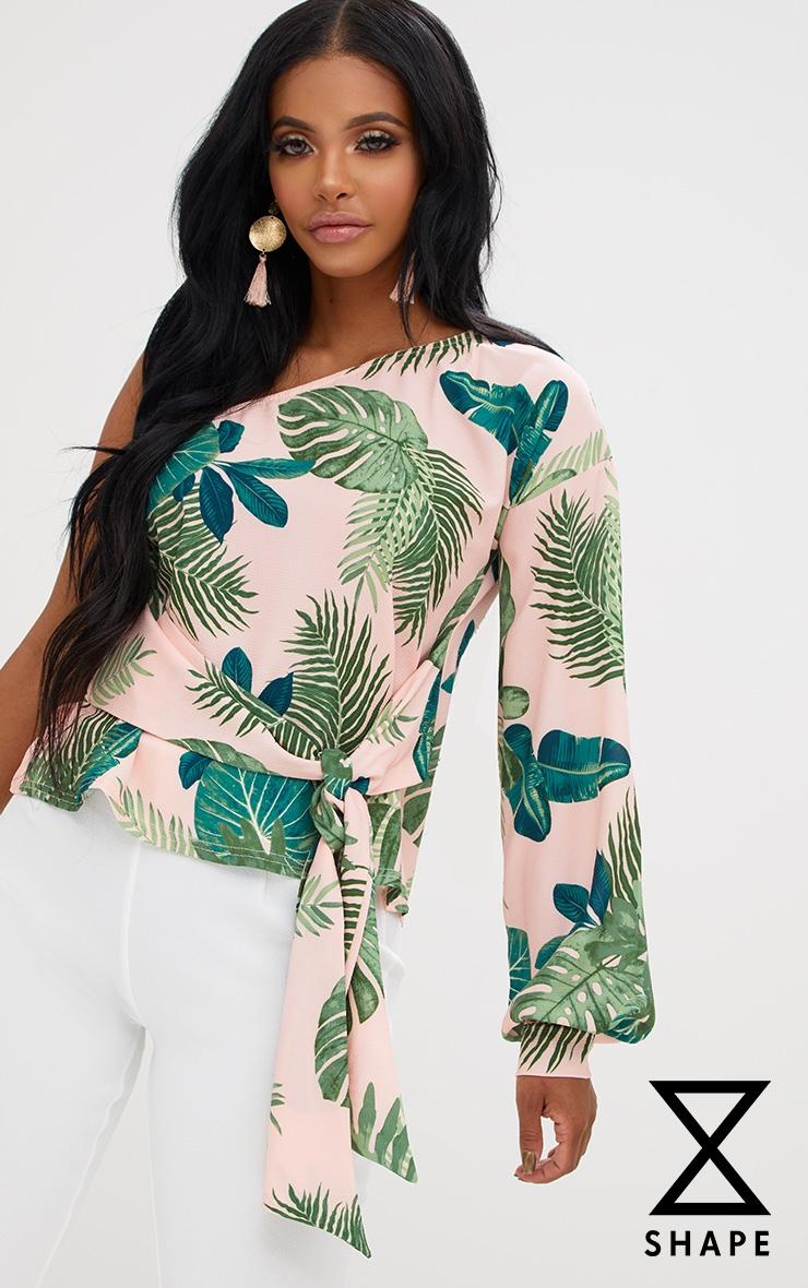 Shape Tropical One Shoulder Top 1