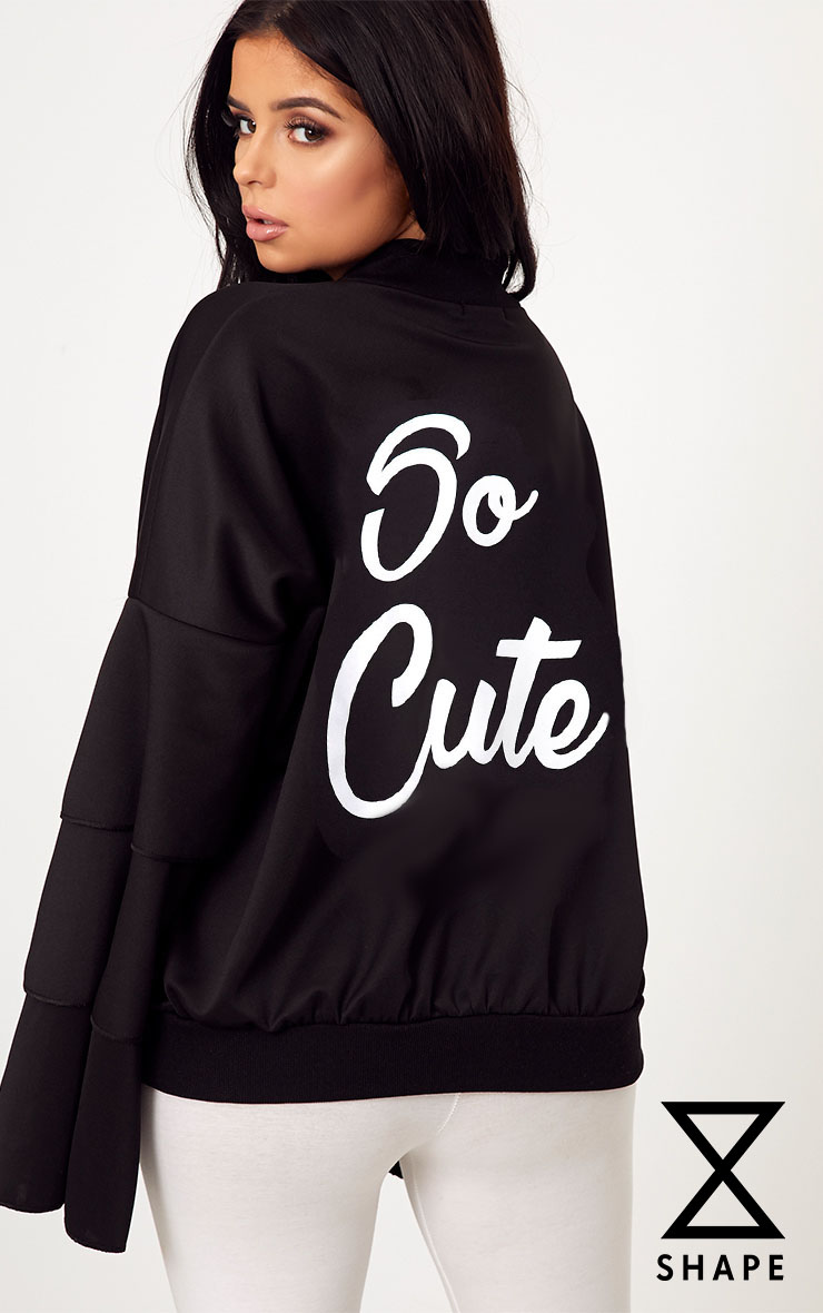 Shape Black So Cute Bomber Jacket 1