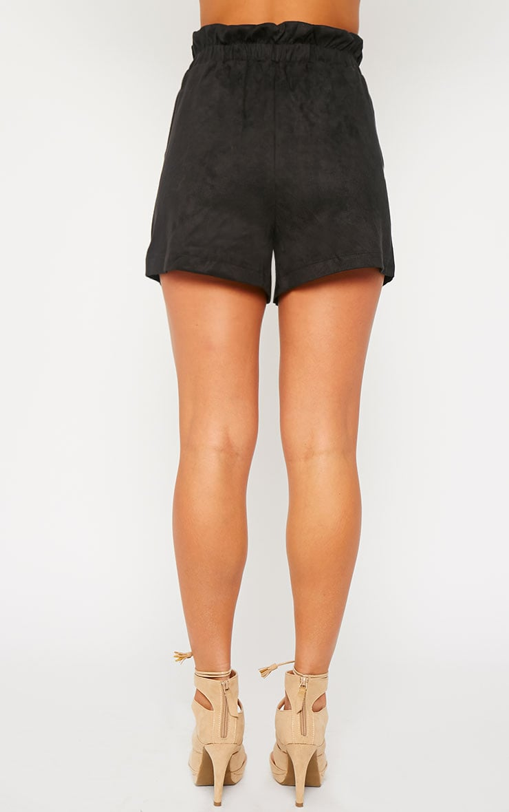 Trudy Black Suede Shorts 4