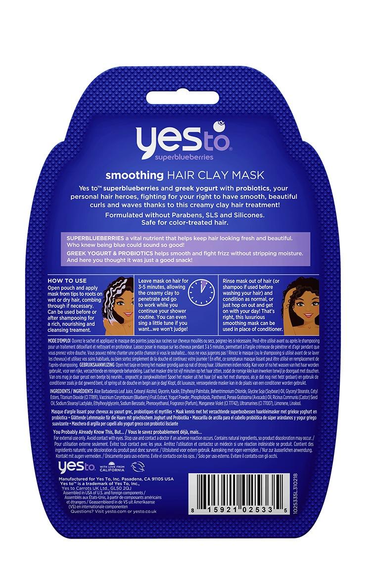 Yes to Superblueberries Smoothing Greek Yogurt & Probiotics Clay Hair Mask 2