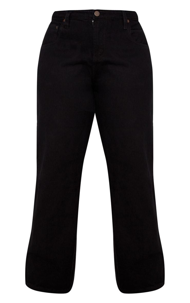 Plus Black Extreme Wide Leg Jean 3