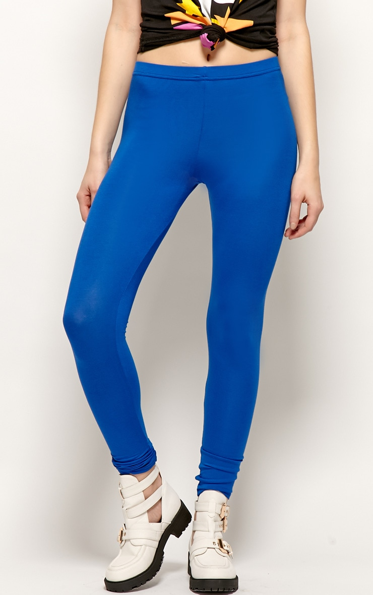 Sofie Royal Blue Jersey Leggings 3