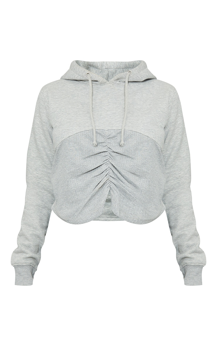 Maternity Grey Bump Ruched Hoodie 5