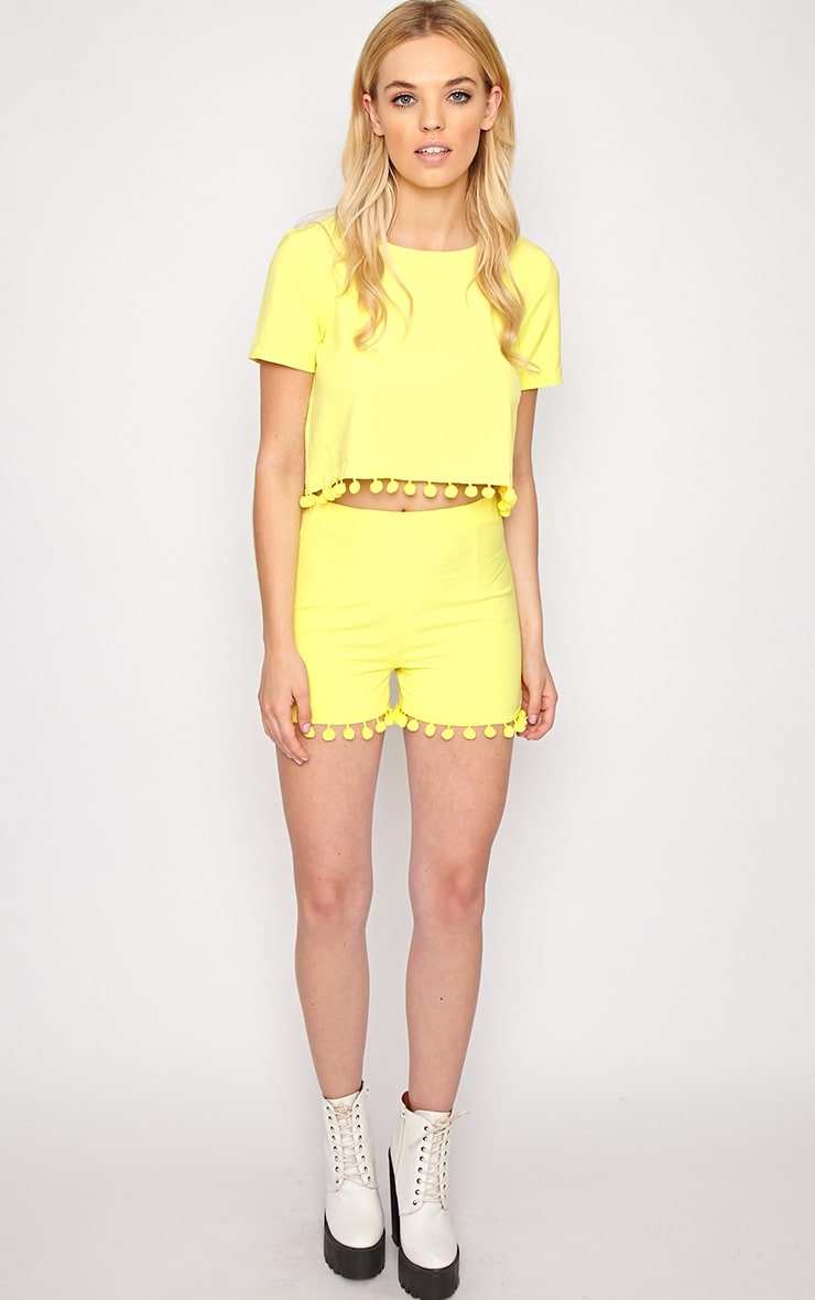 Sierra Yellow Pom Pom Short 1