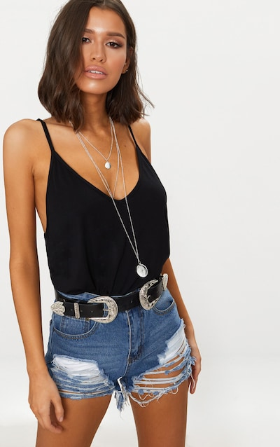 Clearance Store Online Grey Embroidered Wanderlust Vest Top Pretty Little Thing Buy Cheap Professional Cheap Find Great Pay With Paypal Cheap Online Amazing Price Cheap Online XF9fNu