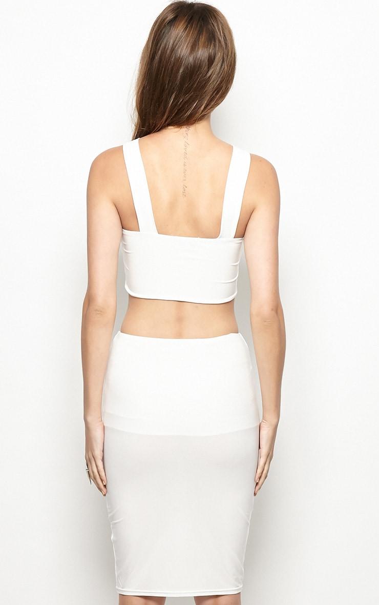 Gianni White Cut Out Bodycon Dress 2