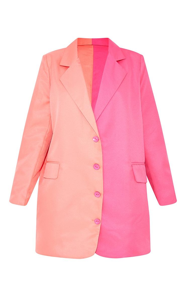 Petite Pink Contrast Oversized Blazer Dress 5