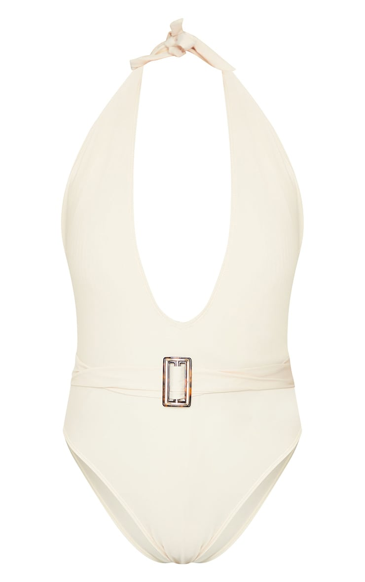 Sand Plunge Belted Swimsuit 5