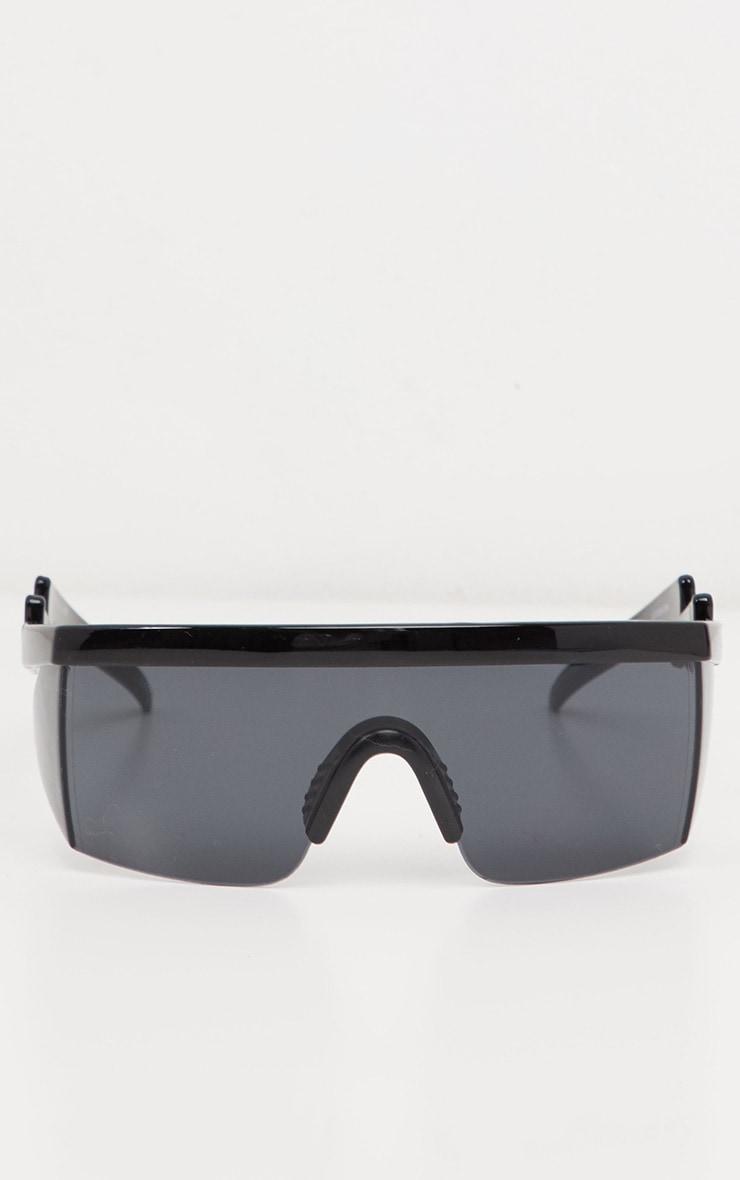 Black Futuristic Visor Sunglasses 3