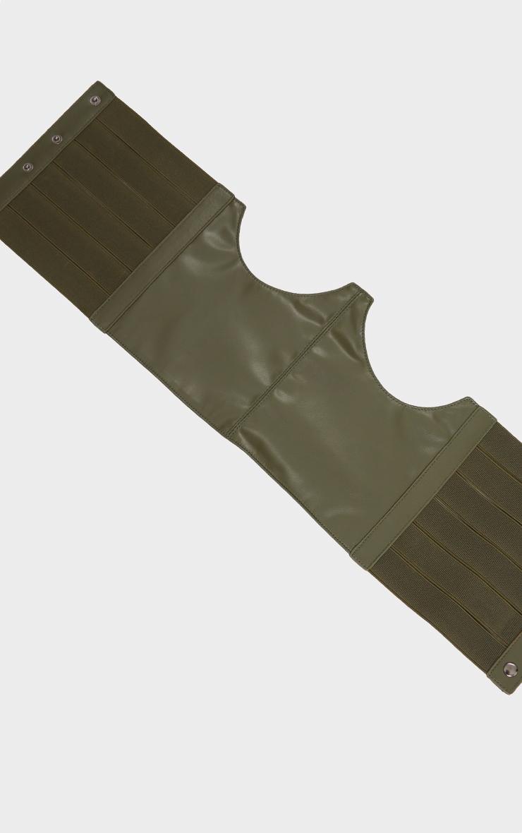 Khaki Cut Out Corset Belt 3