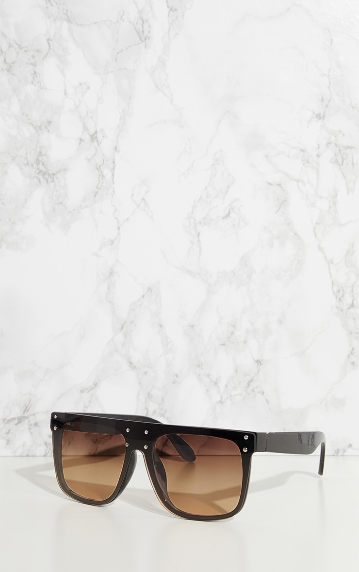 Black Flat Top Edge Sunglasses 2